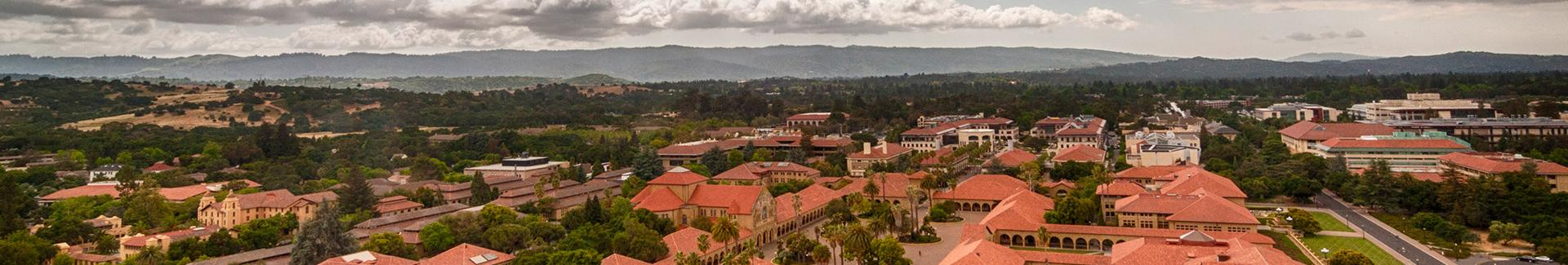 Bird's eye view of Stanford campus